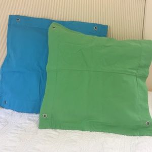 Tommy Hilfiger turquoise & Lime pillow covers
